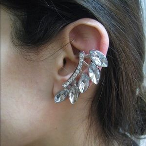 Jewelry - Crystal Cluster Left Ear Cuff